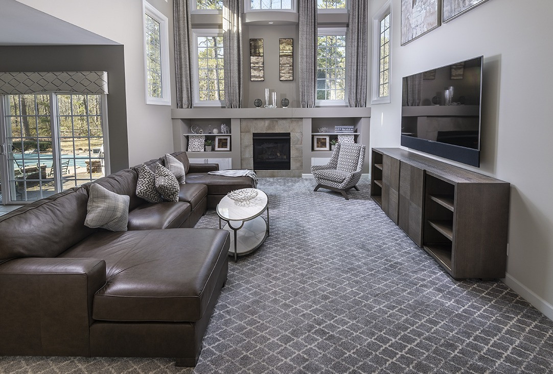 Medford, NJ: Modern Transitional Two Story Family Room & Living Room