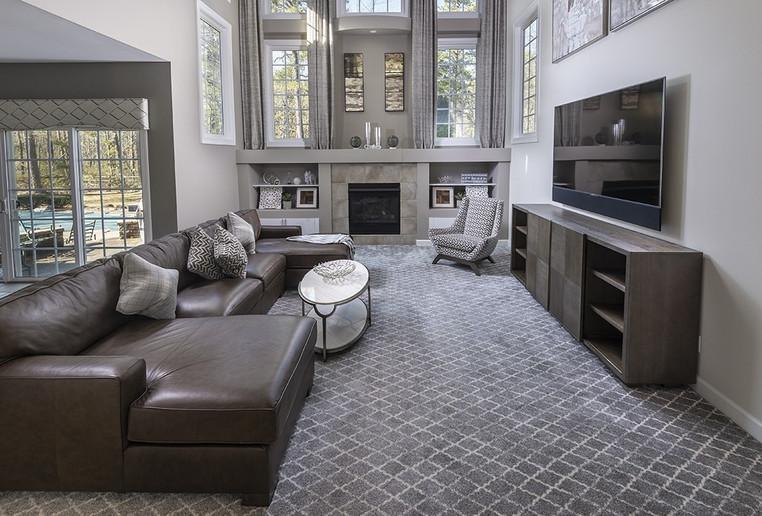 Medford, NJ: Modern Transitional Two Story Family Room & Living Room