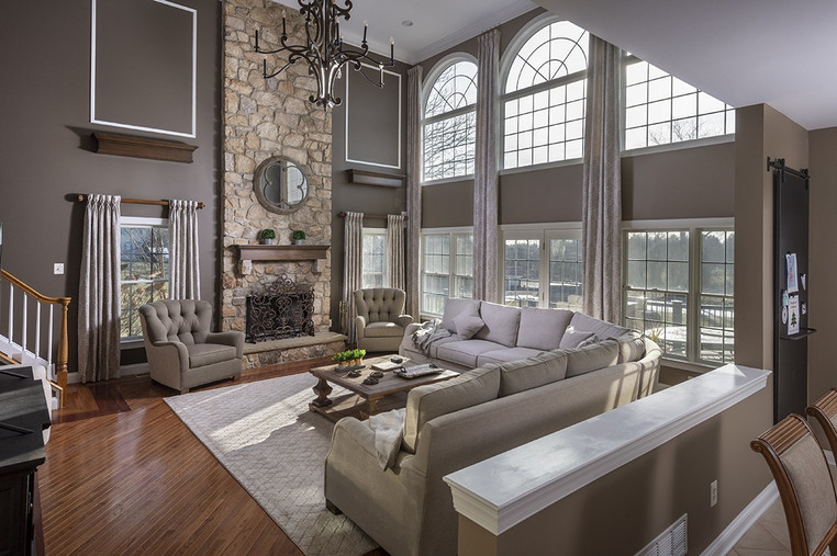 Newtown, PA: Two-Story Living Room
