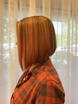 Highlights and bob haircut