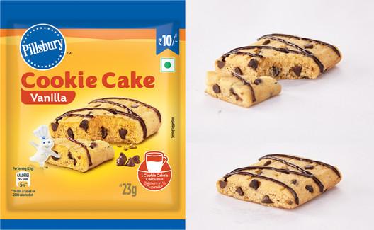 Pillsbury Vanilla cookie cake packaging.