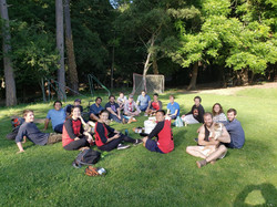 Long group softball team at UC-Berkeley.
