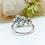 Thumbnail: 18金WG お花 ブルートパーズ ダイヤモンド リング