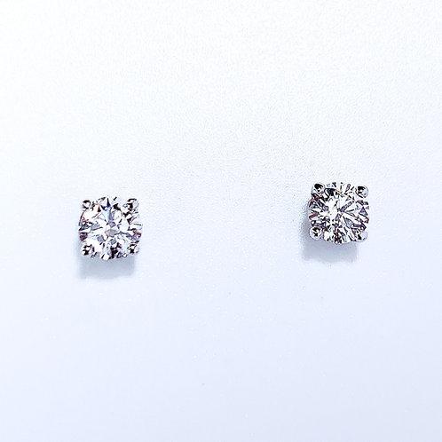 18金WG GIA鑑定書付き ダイヤモンド ピアス 2粒-0.61カラット