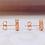 Thumbnail: 18金PG ペルレ ミステリールビー ハート ピアス
