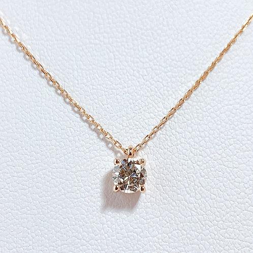 18金PG 1粒ダイヤモンド(0.37カラット)ネックレス