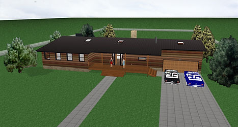 Modern log home front.jpg