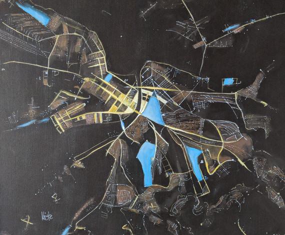 "Belgrade 20""X 20"" acrylics"