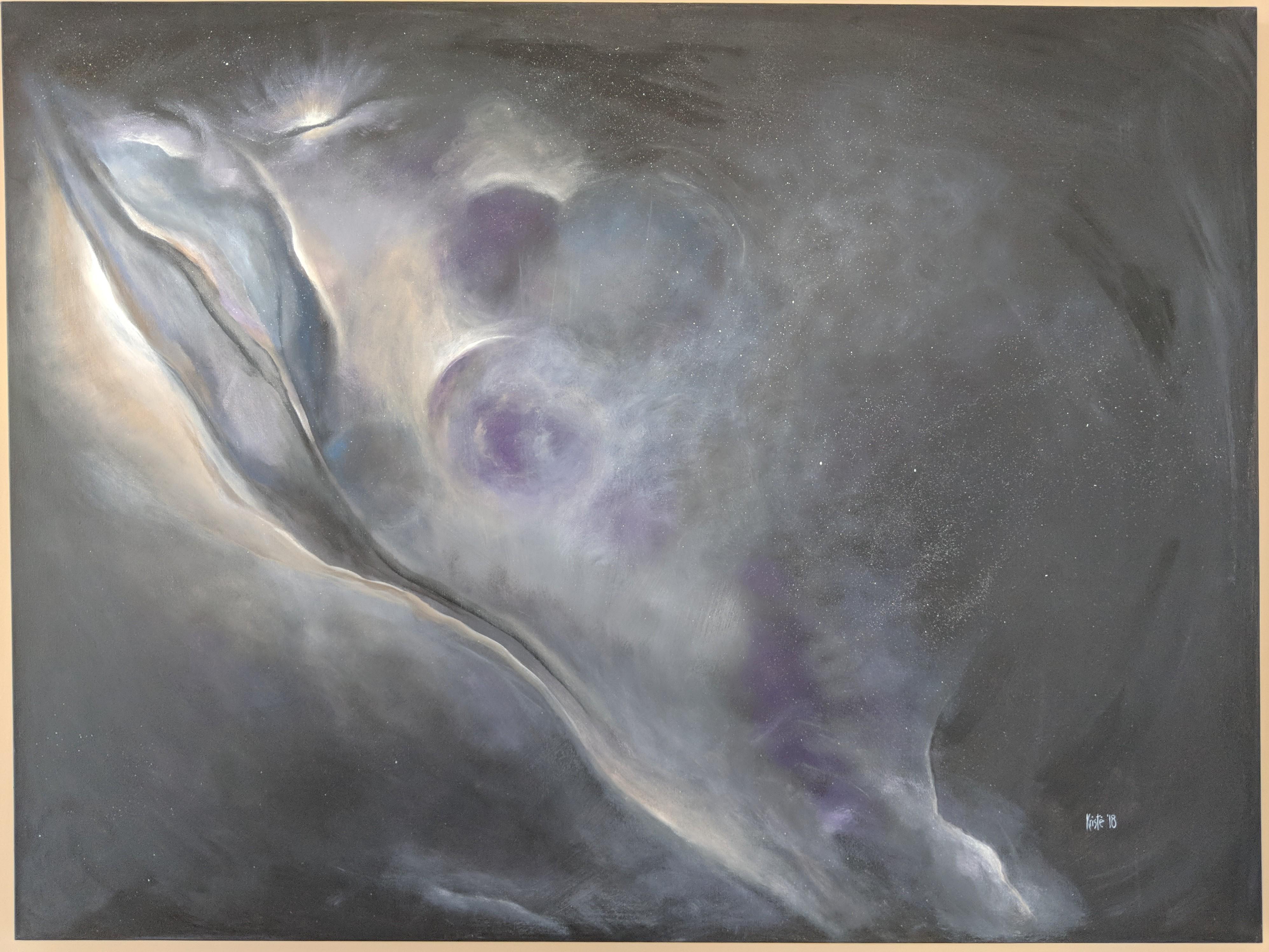 "Birth of a Galaxy 48""x 36"" acrylics"