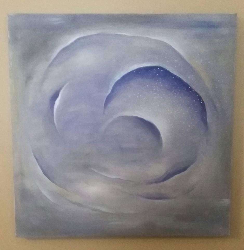 """Celestial Vortex 24""""x 24"""" acrylics"""