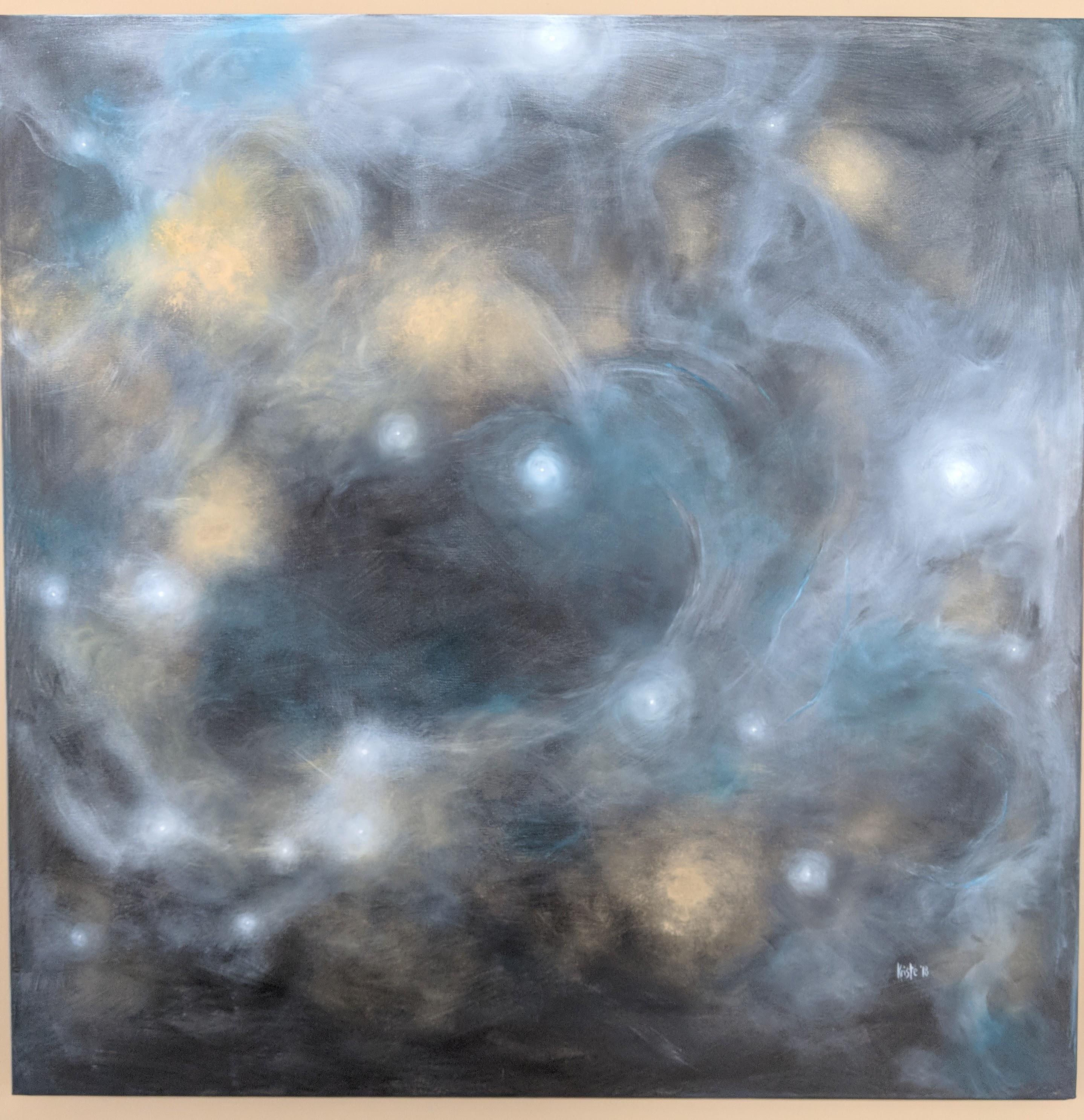 """Teal Mist 36""""x 36"""" acrylics"""