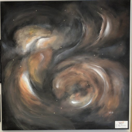 "Nebula 36""x 36"" acrylics"