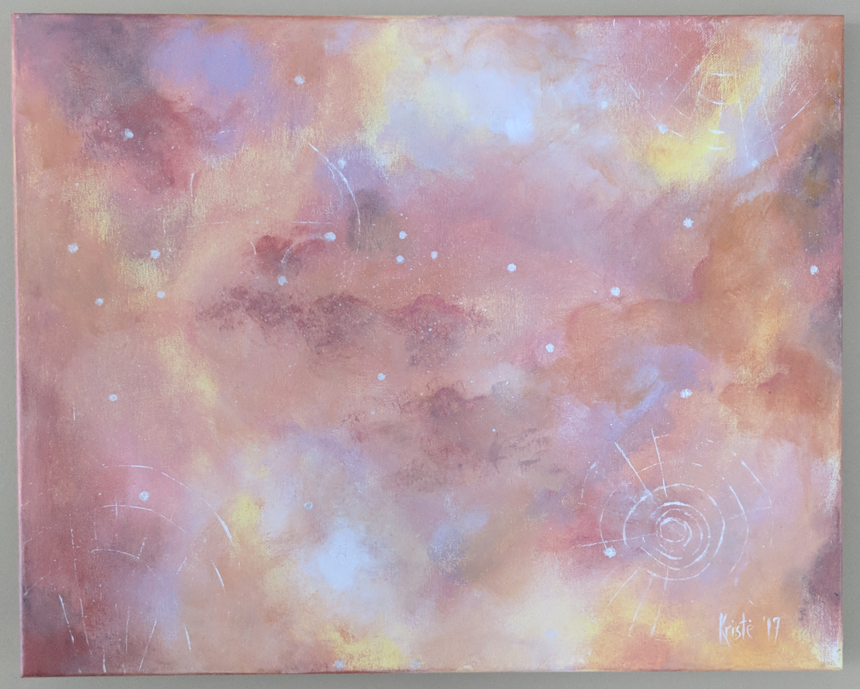 """Sunburst of Hope 20""""x 16"""" acrylics"""