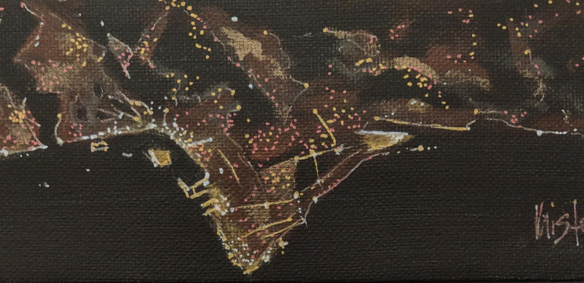 """Beirut 9""""x 3"""" acrylics"""
