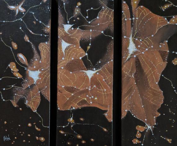 """U.K. triptych       4"""" x12"""" ea acrylics"""