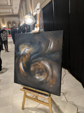 """'Nebula' Displayed at the Home Show 36""""X 36"""""""