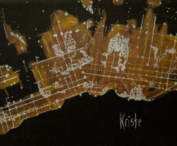"Toronto 7""x 5"" acrylics"