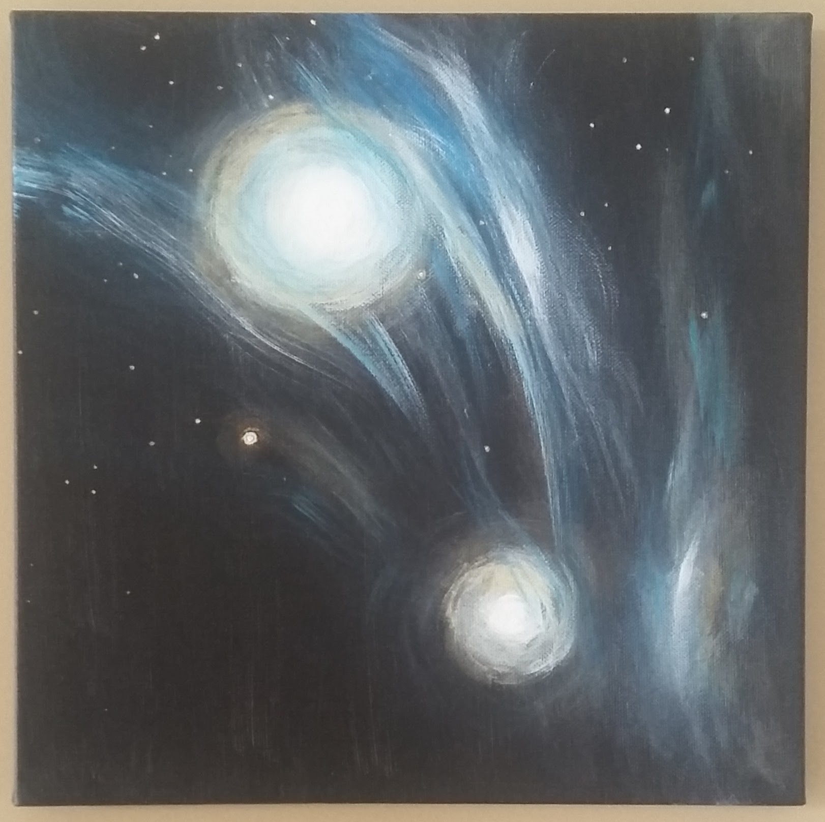 """Astral Musings 12""""x 12"""" acrylics"""