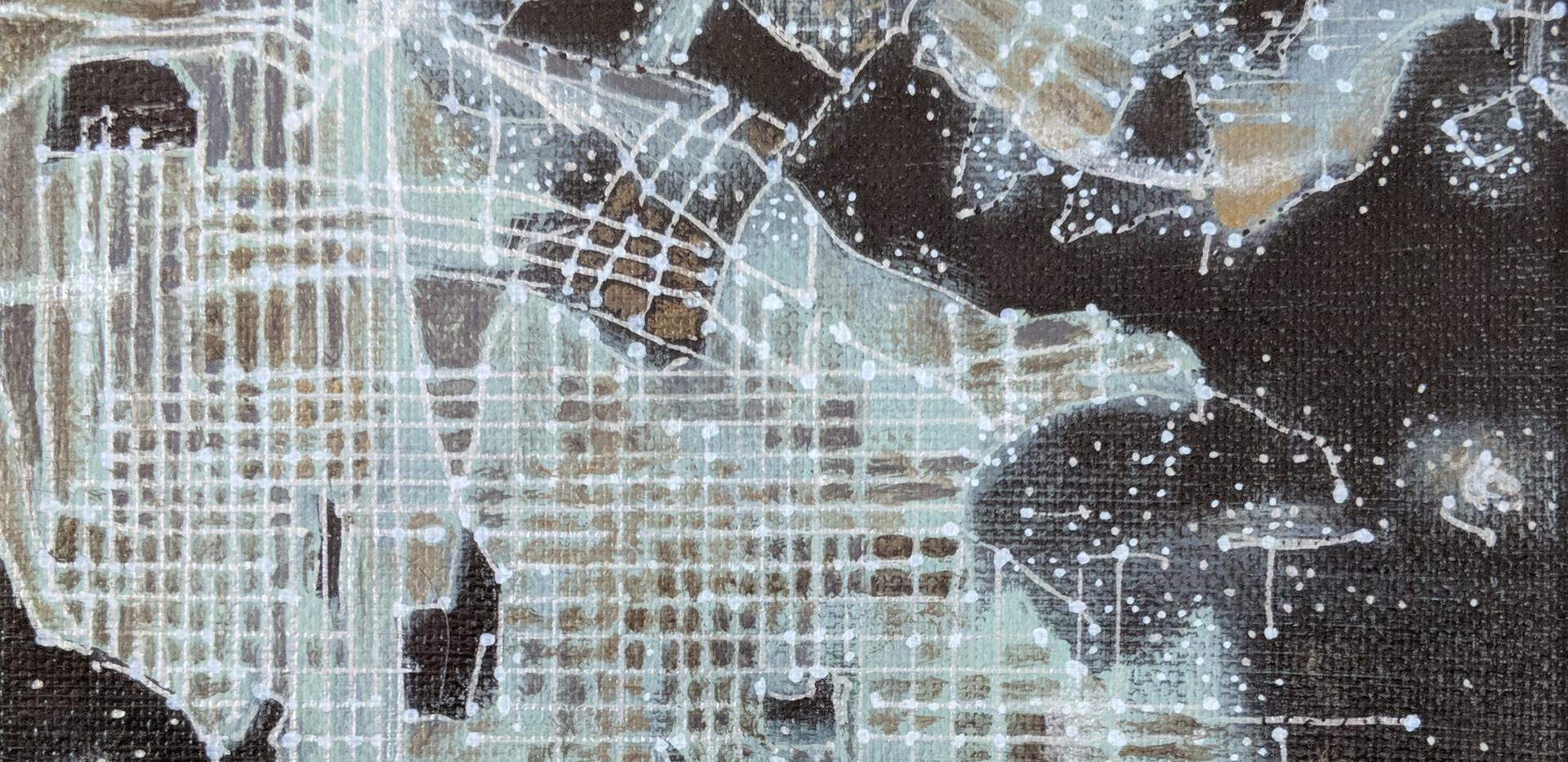 "Los Angeles 6""x 6"" acrylics"