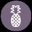 Pineapple Icon - Purple