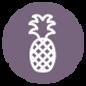 Ananas-Symbol - lila
