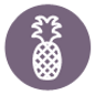 Pineapple Icon - Purple