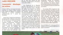 """Article paru dans """"La Voix des Renouillus"""""""