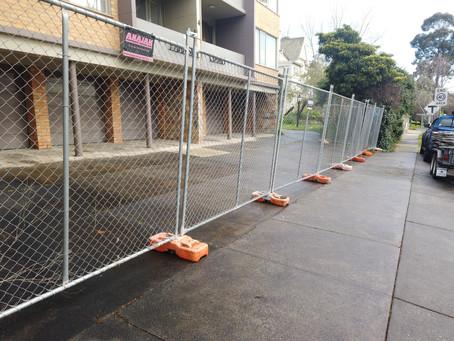Temporary fencing hire Melbourne, 3004