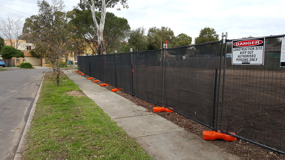 Temporary Fencing with Shade Cloth