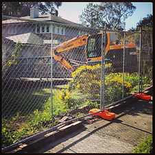 A New install of Temporary fencing hire melbourne for a Demolition site