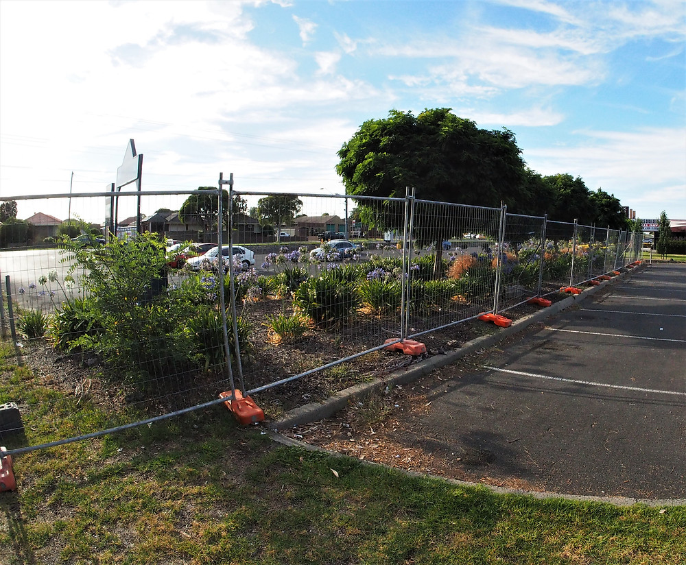Temp fence for site security