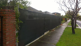 Temp Fence with Shadcloth installed in East Bentleigh