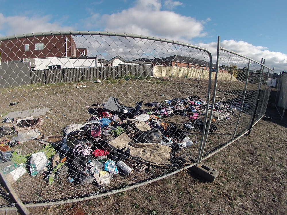 Temporary Fencing to Stop Rubbish Dumping