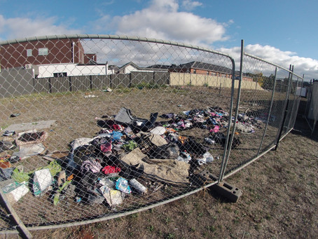 Stop Rubbish Dumping In New Areas -  Use Temporary Fencing