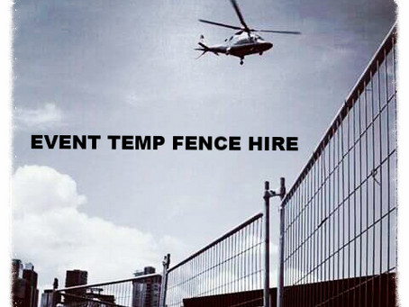 Temporary Fencing For Events