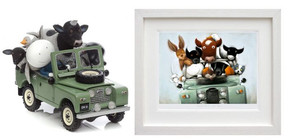 Doug Hyde - Overloaded With Love Matching Numbered Sculpture and Picture
