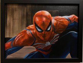 Scott Bateman - Original Oil - Spiderman