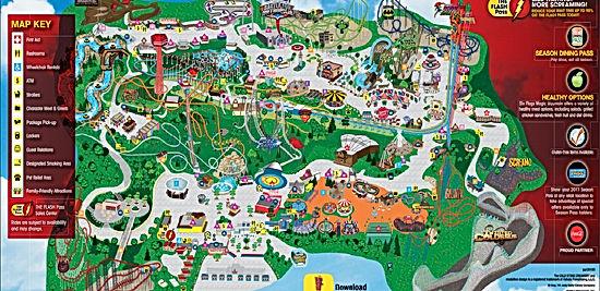 Portaventura Park Map 2017