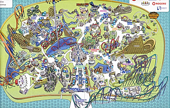Adventure Island Park Map