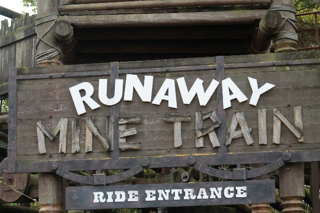 Runaway Mine Train Rollercoaster 2017