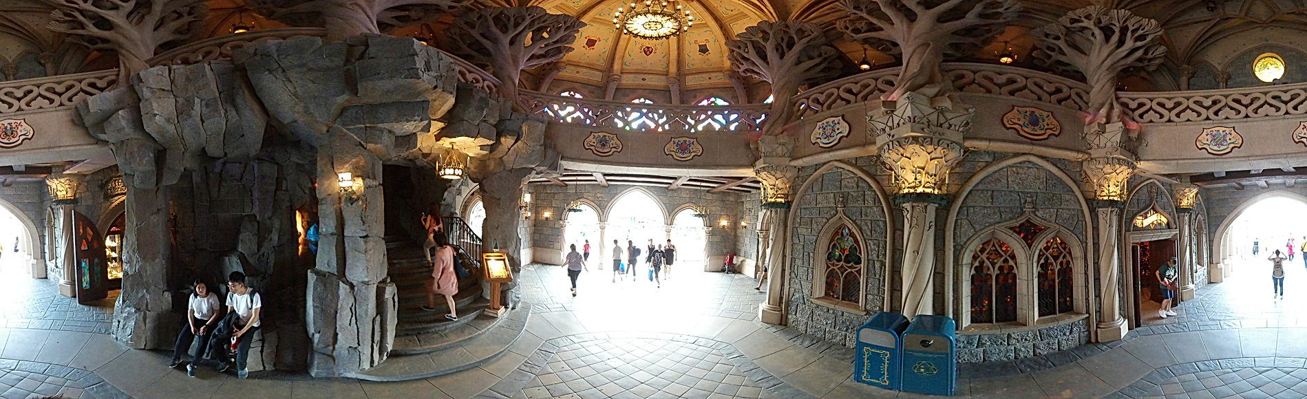 Inside Disneyland Paris Sleeping beauty Castle 360