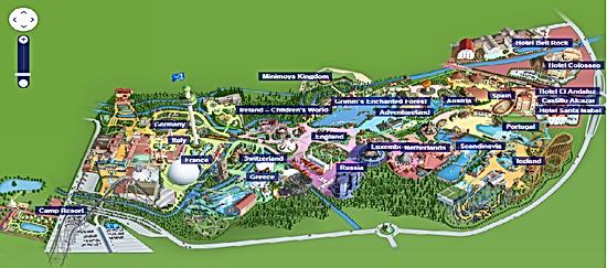 Europa Park Park Map