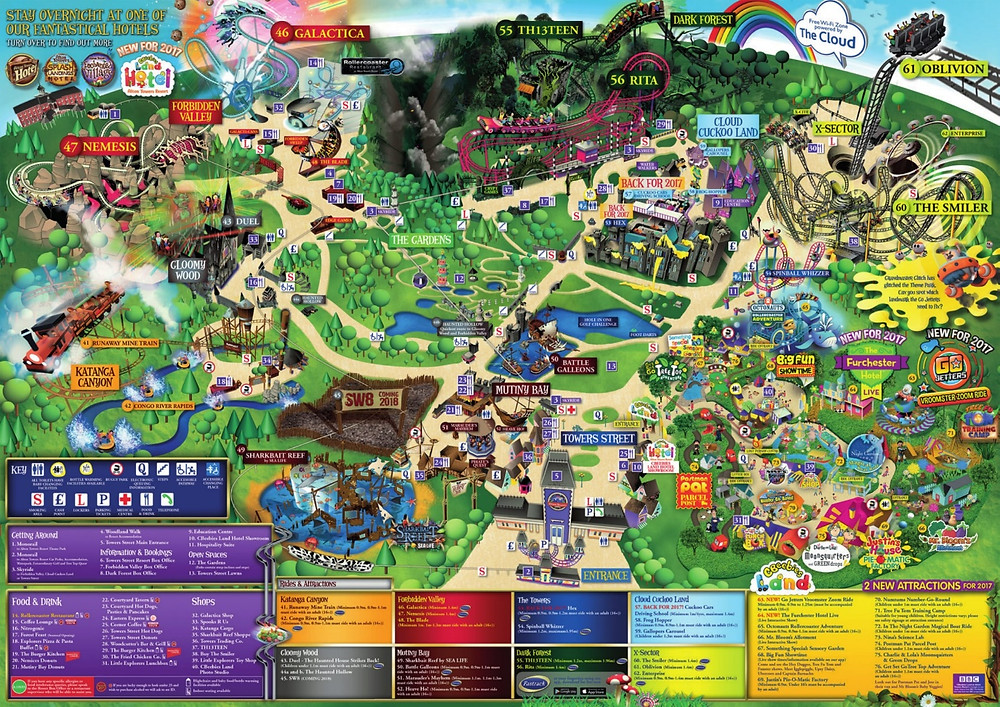 Alton Towers 2017 Map