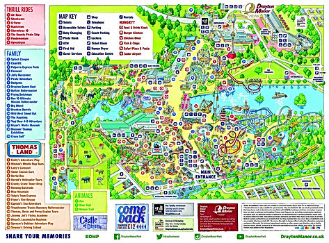 Drayton Manor Park Map