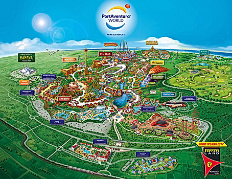 Ferrari Land Park Map