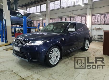 Range Rover Sport 2019MY установка адаптивного круиз-контроля, TPMS, активация опций