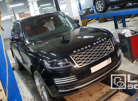 Range Rover 2018MY установка системы адаптивного круиз-контроля, активация опций