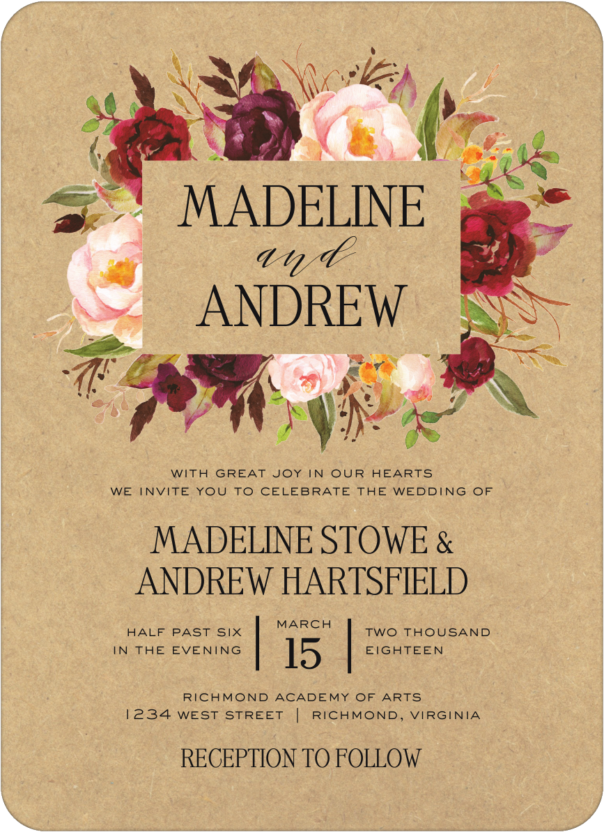 Rustic Romance Invitation