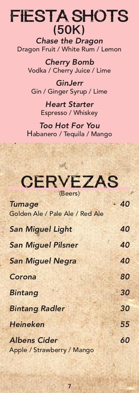 Lolas Cantina Mexicana Drinks