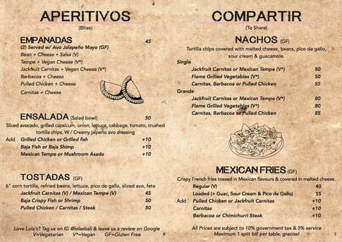 Apertivos (Bites) and Compatir (to share)